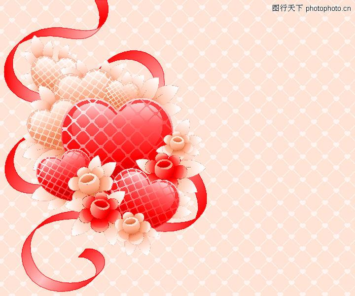 红心,欧美花纹元素,温馨红心,红心0073