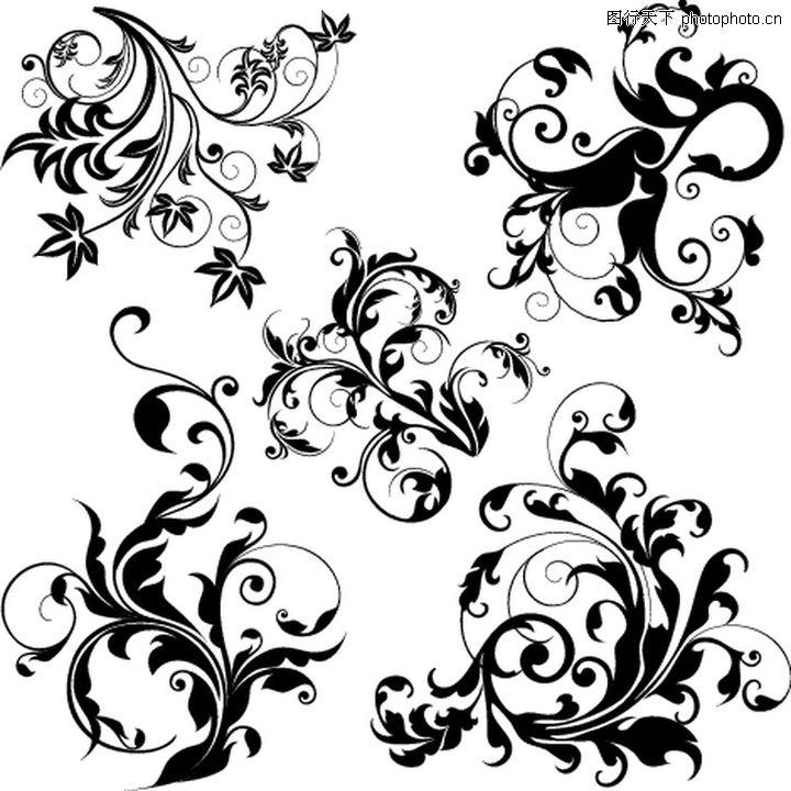 花饰,欧美花纹元素,花饰0870