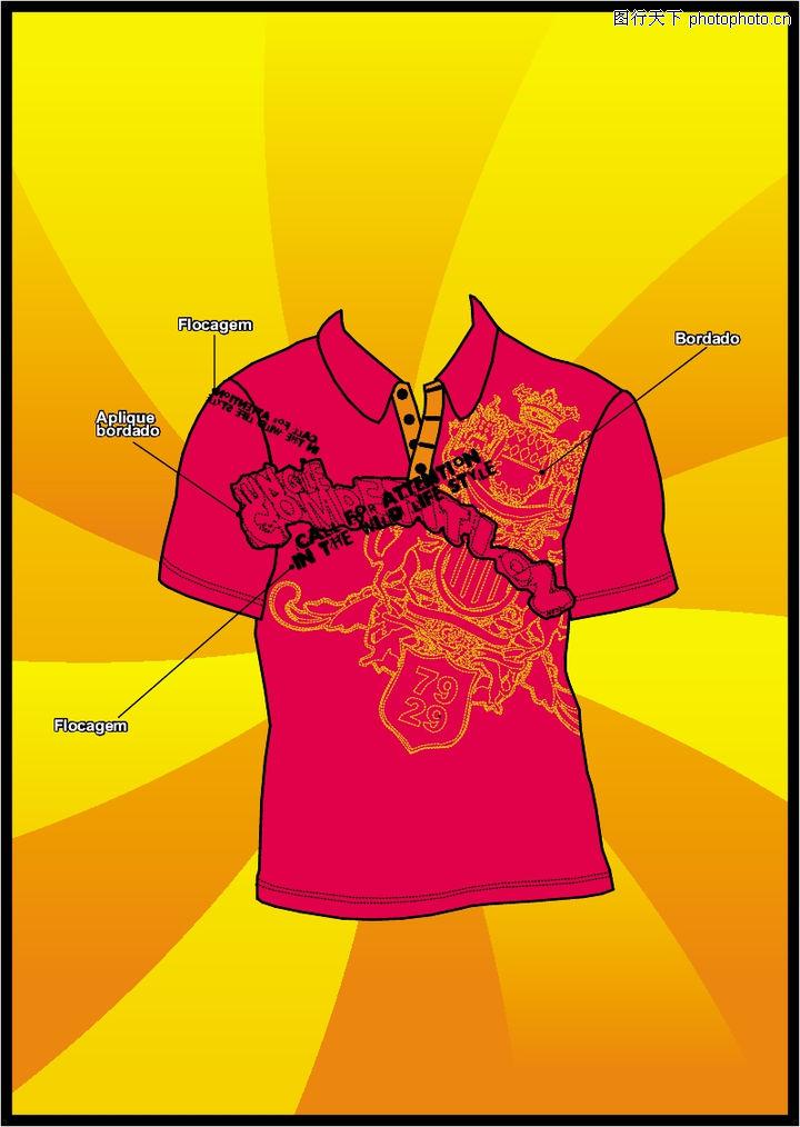 T恤衫花纹,花纹图案,T恤衫花纹0159