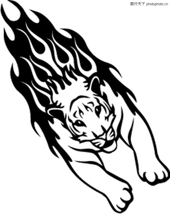动物火焰,花纹图案,动物火焰0048