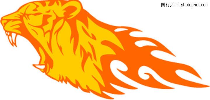 动物火焰,花纹图案,动物火焰0145