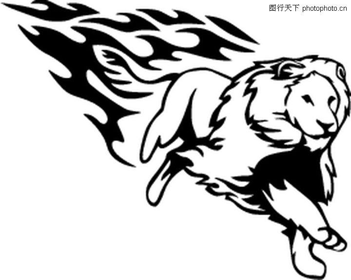动物火焰,花纹图案,动物火焰0174