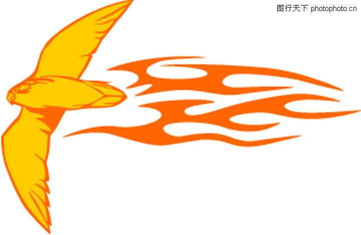 动物火焰,花纹图案,动物火焰0189