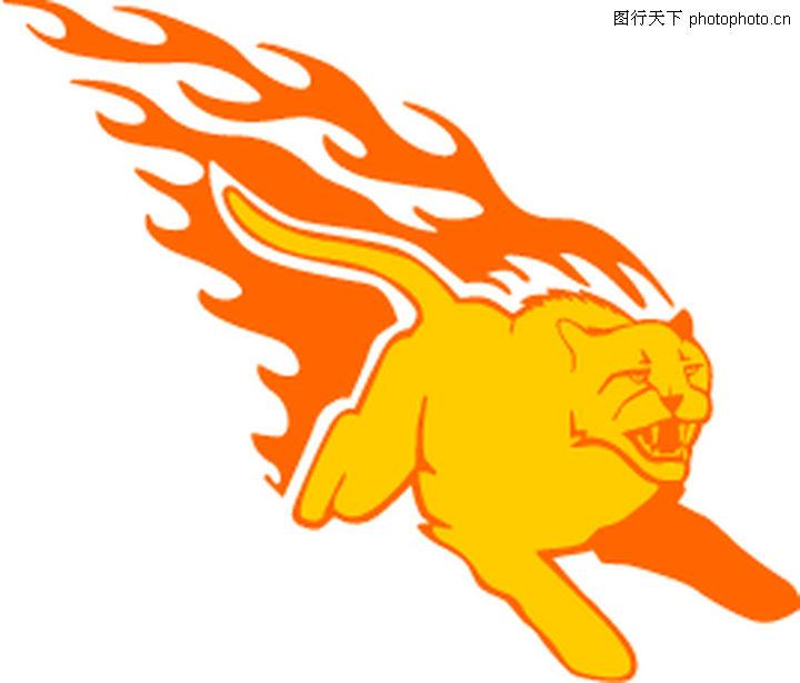 动物火焰,花纹图案,动物火焰0191