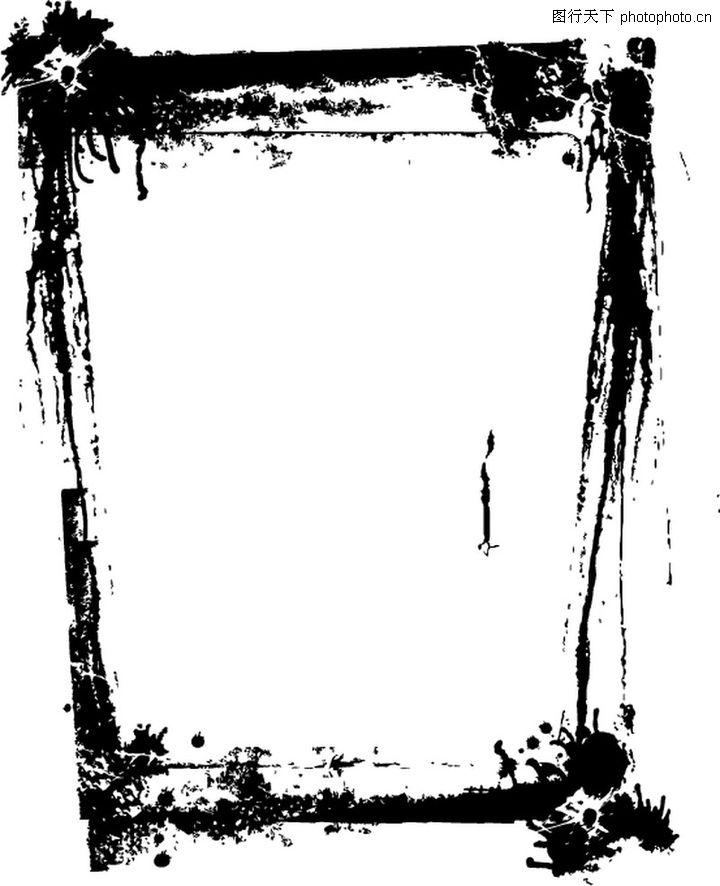 墨印花纹边框0042