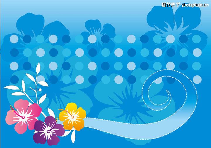 带背景花纹,花纹图案,蓝色