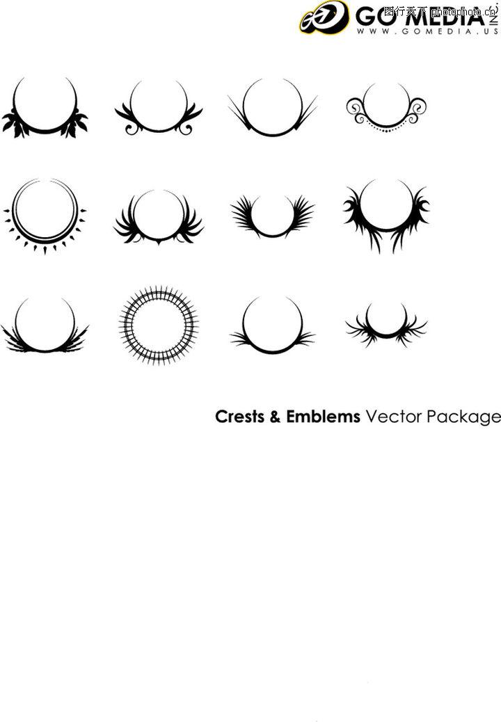 韩国花纹 欧式古典花纹 装饰花纹配饰; 新锐花纹花纹图案圆形镜纹