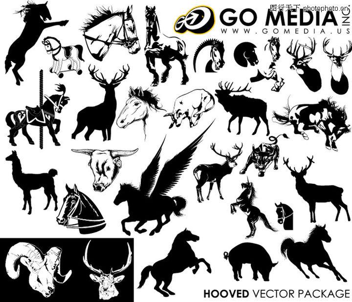 昆虫与鸟兽,花纹图案,走兽 动物,昆虫与鸟兽0004