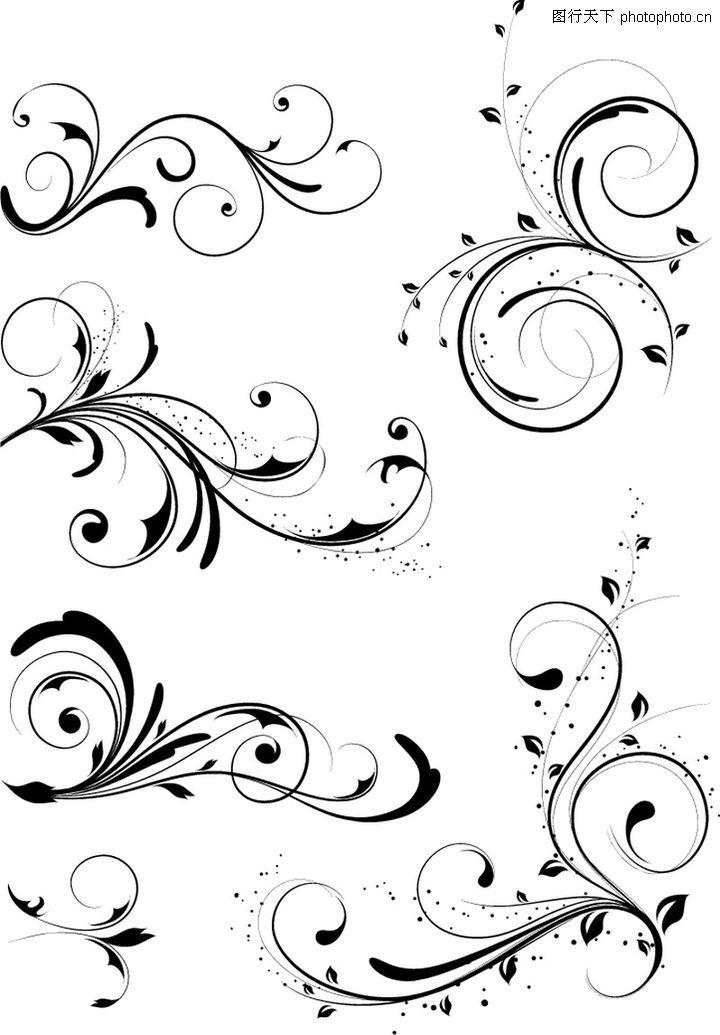 欧美花纹_花纹素材|花边素材; 矢量花纹;; 欧美花纹