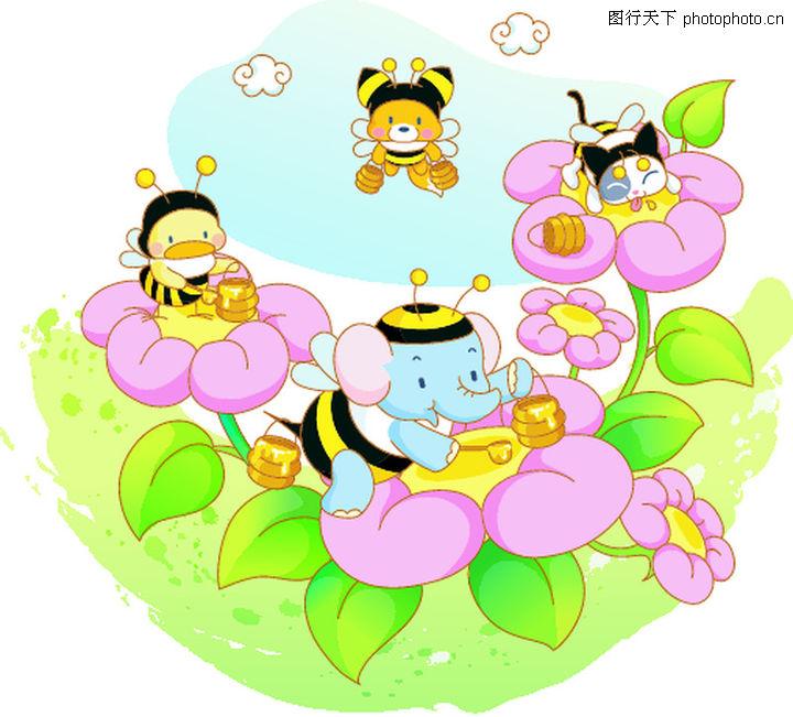 小蜜蜂,; 卡通动物;; 卡通小蜜蜂简笔画-第7页 乐乐简笔画