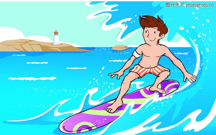 儿童运动,少年儿童,冲浪,儿童运动0019