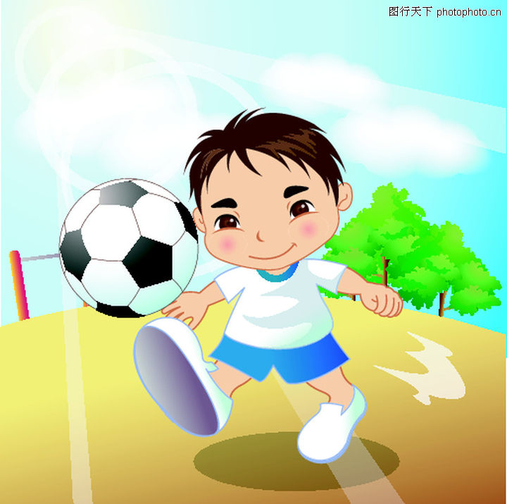 儿童足球_各国儿童足球世界杯儿童画精品推荐儿童画贴
