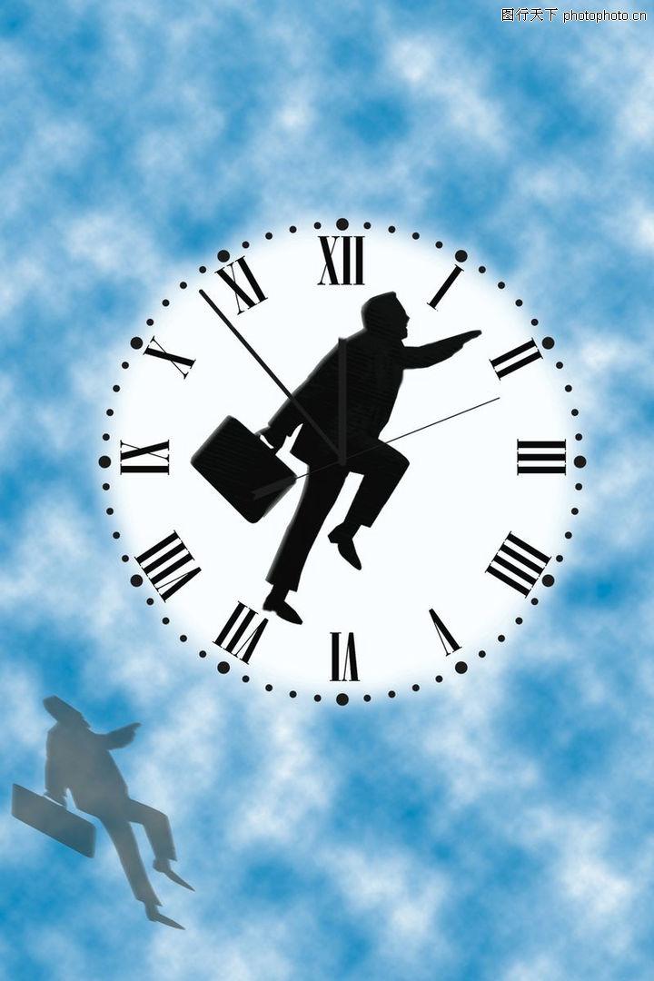 商业超人,商业金融,蓝色底纹 蓝色 时间 奔跑的人 商业人 皮包 拿皮包的人 在时间上奔跑的人 商业,商业超人0044