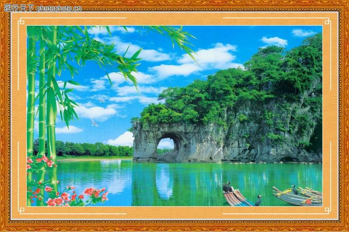 山水风景,中堂画,山水风景0060