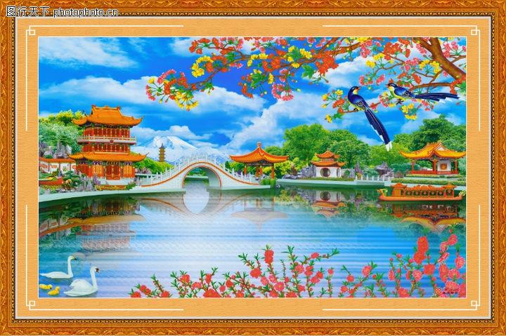 山水风景,中堂画,山水风景0062
