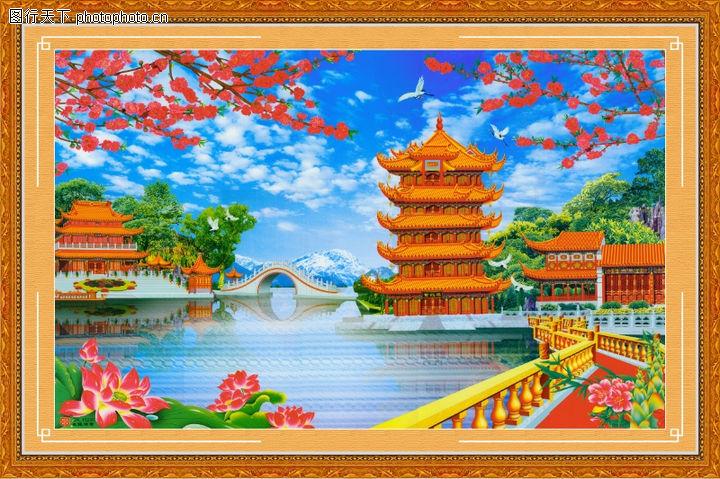 山水风景,中堂画,山水风景0063
