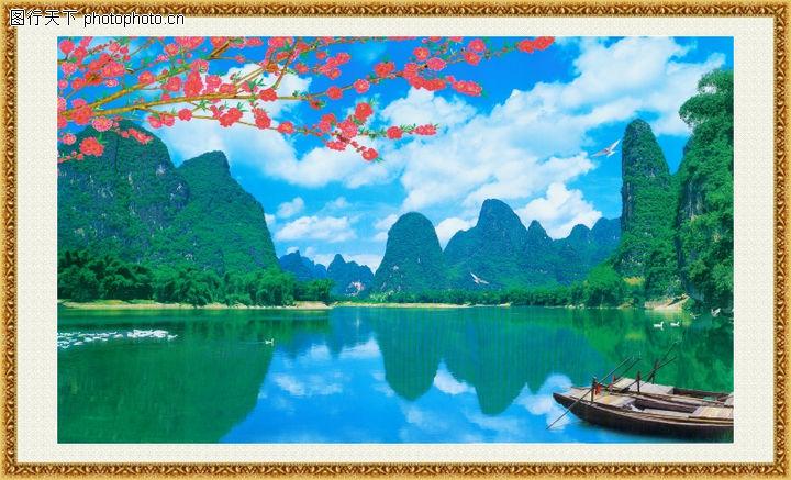 山水风景,中堂画,山水风景0065