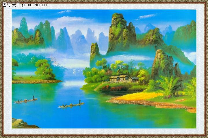 山水风景,中堂画,山水风景0066