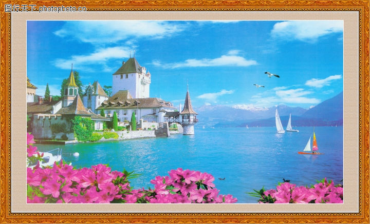 山水风景,中堂画,山水风景0073