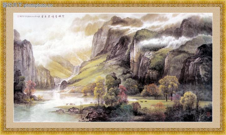 山水风景,中堂画,山水风景0095