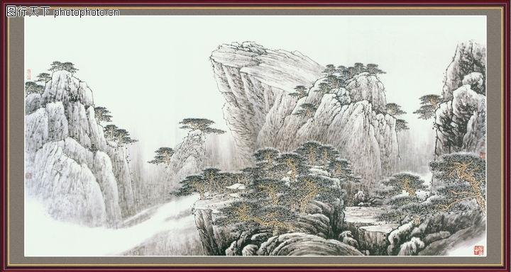 山水风景,中堂画,山水风景0099