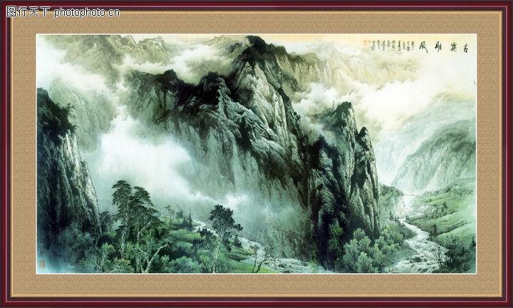 山水风景,中堂画,山水风景0100