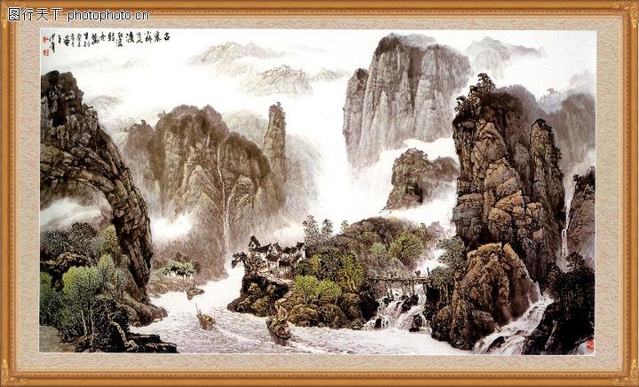 山水风景,中堂画,山水风景0101