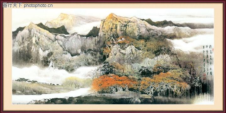 山水风景,中堂画,山水风景0102