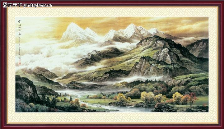 山水风景,中堂画,山水风景0111