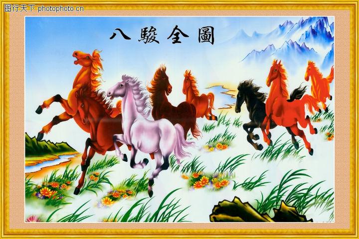 经典壁画,中堂画,经典壁画0003