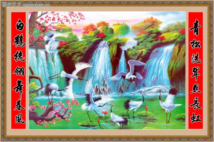 经典壁画,中堂画,经典壁画0004
