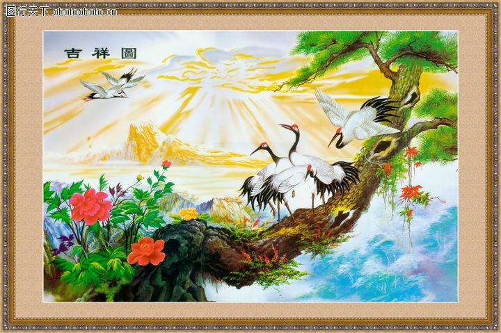 经典壁画,中堂画,经典壁画0005