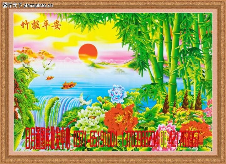 经典壁画,中堂画,经典壁画0018