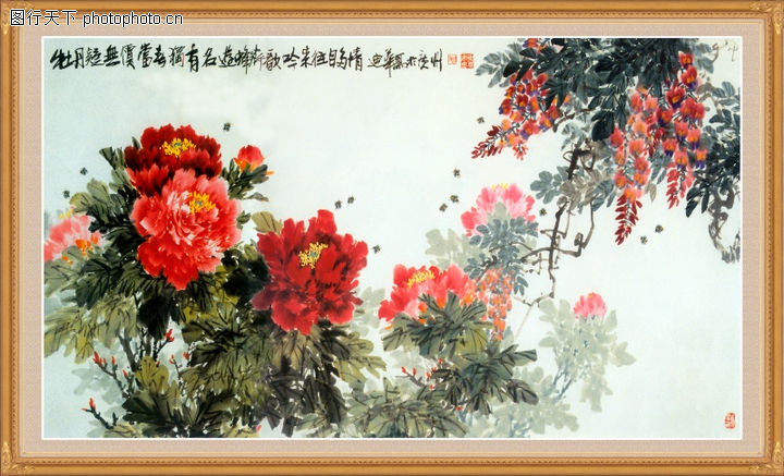 花鸟,中堂画,花鸟0006