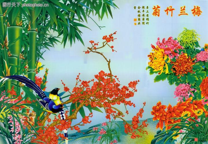 花鸟,中堂画,花鸟0017