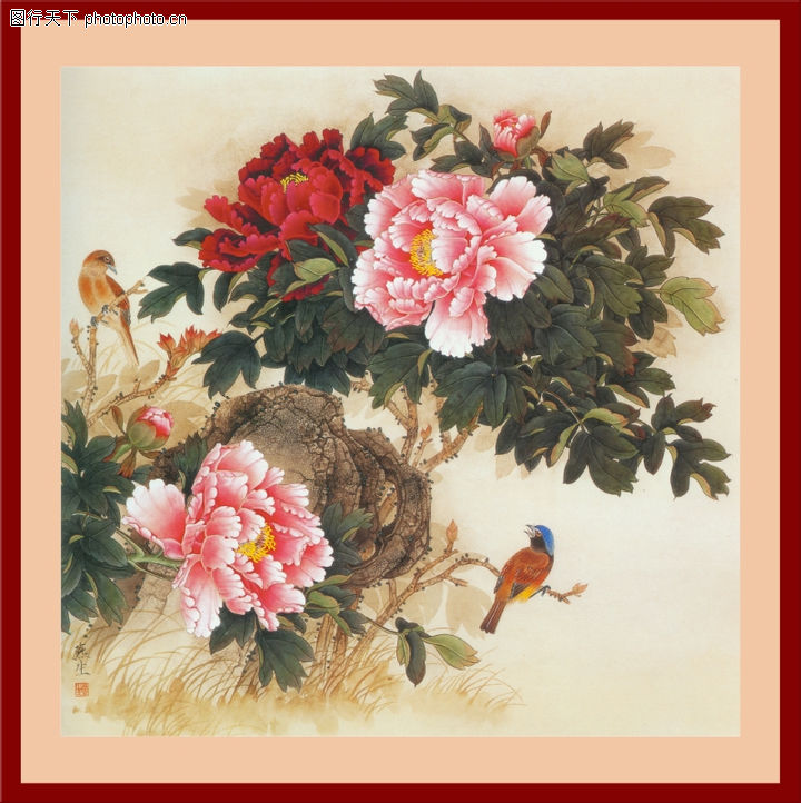 花鸟,中堂画,花鸟0028