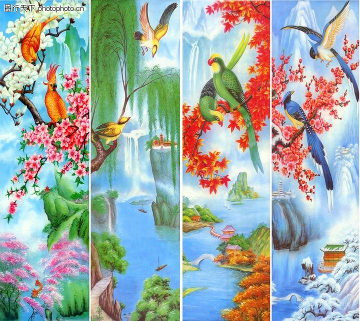 花鸟,中堂画,花鸟0034