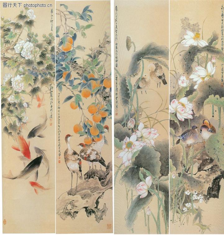 花鸟,中堂画,花鸟,花鸟0039