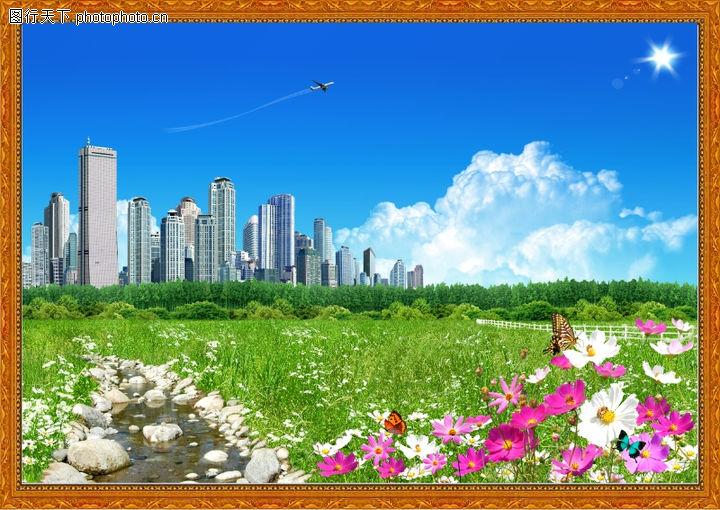 韩国风景,中堂画,韩国风景0005