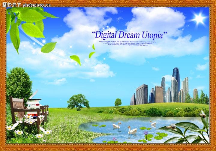 韩国风景,中堂画,韩国风景0013