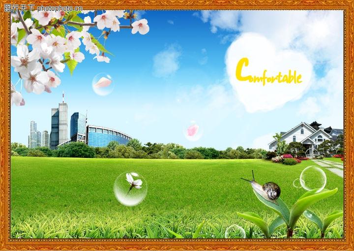 韩国风景,中堂画,韩国风景0015