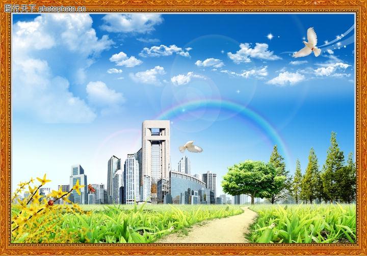 韩国风景,中堂画,韩国风景0022
