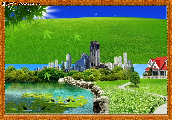 韩国风景,中堂画,韩国风景0028