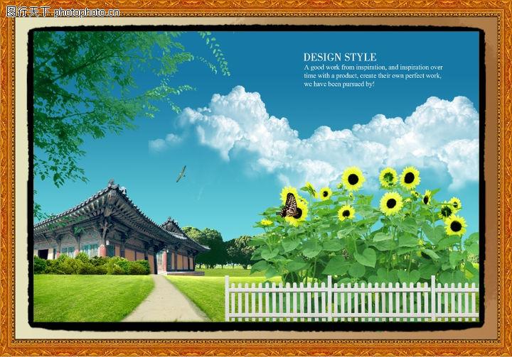 韩国风景,中堂画,韩国风景0029