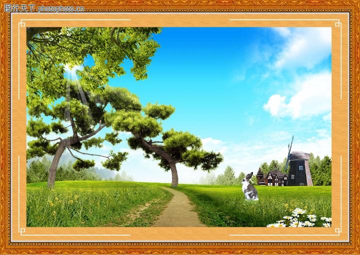 韩国风景,中堂画,韩国风景0039