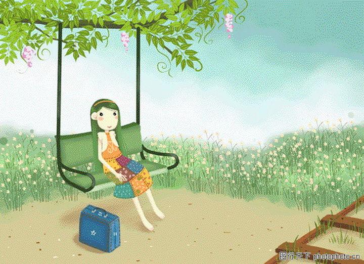 唯美插画,节日,唯美插画0033